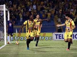 Real España ganó por la mínima a Honduras Progreso. EFE