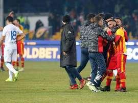 O Benevento conseguiu, finalmente, ganhar um jogo. AFP
