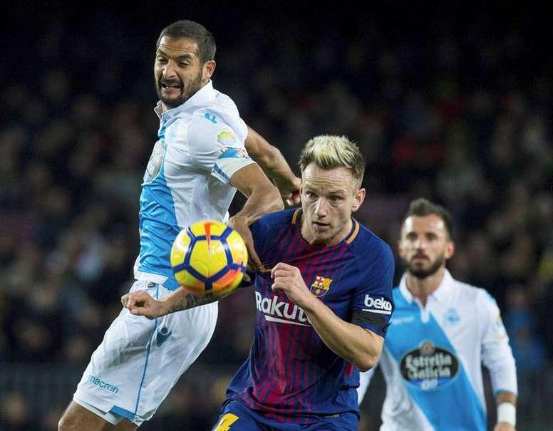 Rakitic se mostró satisfecho con la victoria del Barça en Copa. EFE