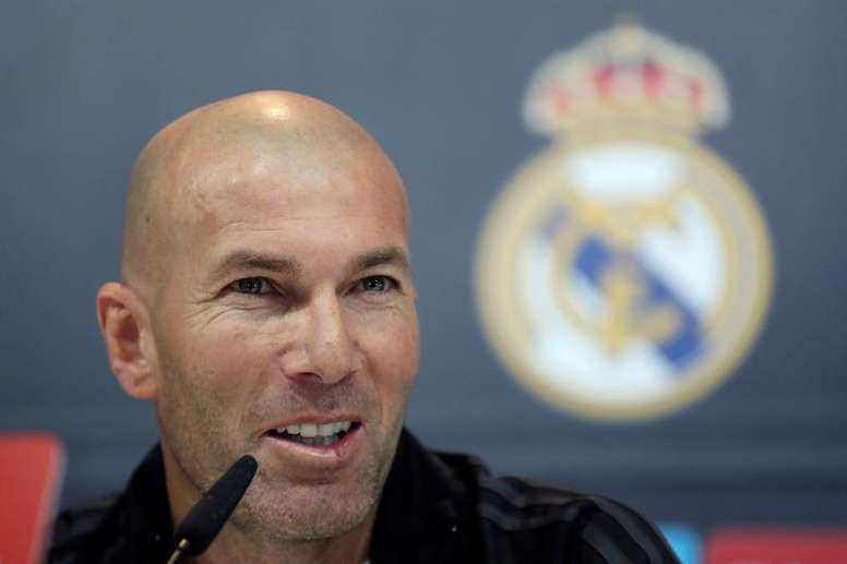 Zidane falou sobre vários temas da atualidade 'merengue'. EFE