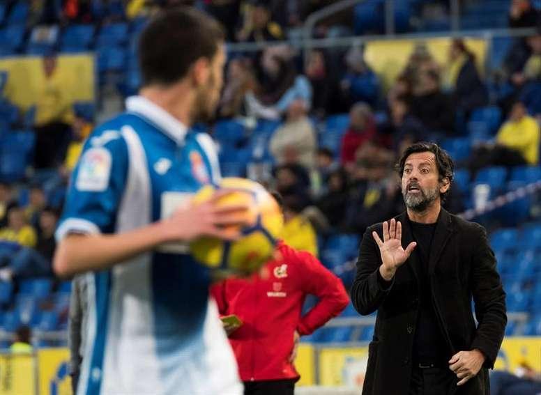 Quique Sánchez Flores no tiene claro su futuro en el Espanyol. EFE
