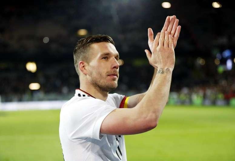Podolski ofendió a los aficionados del Schalke 04. EFE