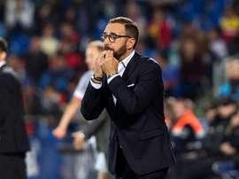 Bordalás contó en el entrenamiento con el nuevo jugador Rémy. EFE