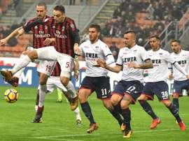 Gattuso consiguió su segundo triunfo seguido tras vencer por la mínima al Crotone. EFE