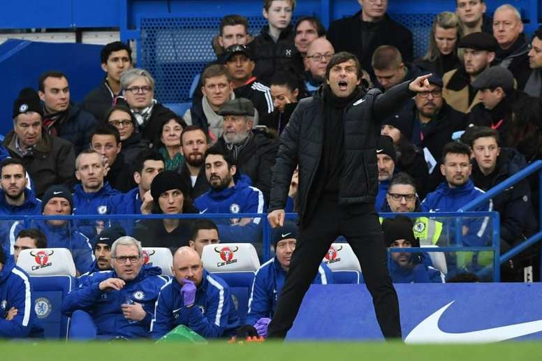 Conte will have been disappointed by his side's display. EFE/Archivo