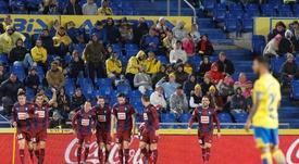 Orellano marcó su primer gol con el Eibar. EFE