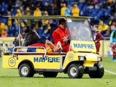 Samper cayó lesionado, como Bigas minutos antes. EFE