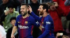 Alba y Messi, la sociedad perfecta. EFE