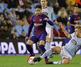 O atacante está a deixar a sua marca no Barcelona B. EFE