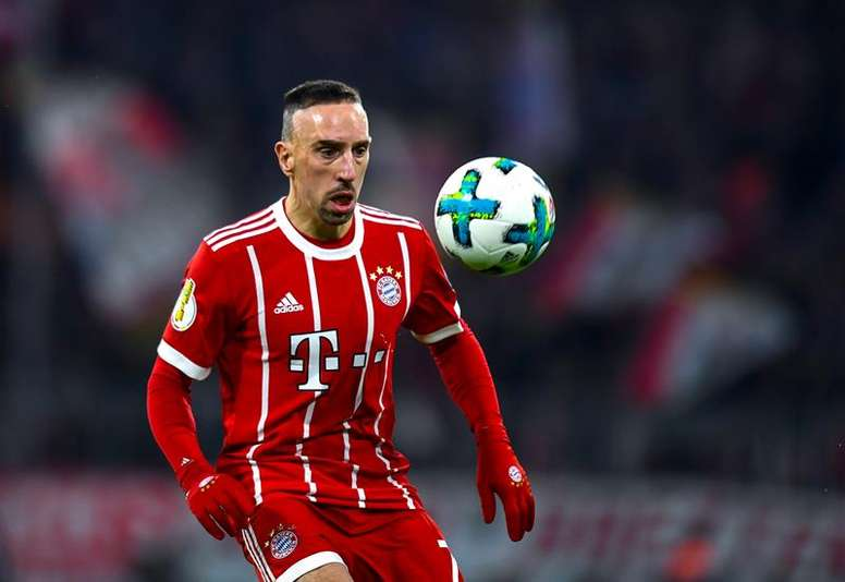 Franck Ribéry a inscrit le deuxième but de la rencontre contre Leverkusen. EFE