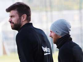 Pique confirmed he knew about the clause in Messi's contract. EFE/Archivo