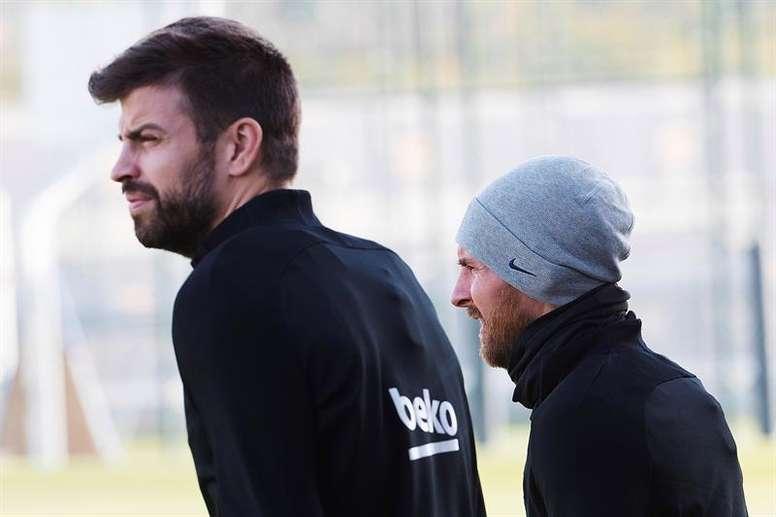 Piqué confirme que Messi peut s'en aller à la fin de chaque saison. EFE