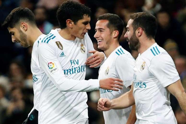 Les joueurs du Real Madrid cnnaissent leur adversaire. EFE