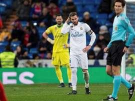 Não foi uma boa noite no Santiago Bernabéu. EFE