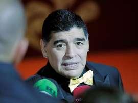 Maradona, feliz en el Al Fujairah. EFE/Archivo