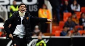 Marcelino se mostró contrariado pese al triunfo. EFE