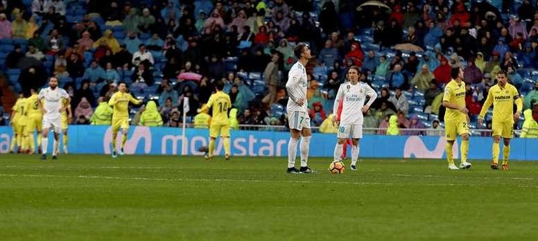 El Villarreal ganó por primera vez en el Bernabéu. EFE