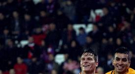 Gameiro le dio la victoria al Atlético en Ipurua. EFE