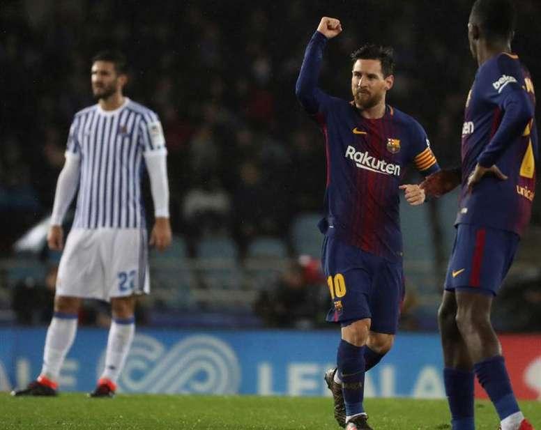 Messi vuelve a Anoeta. EFE/Archivo