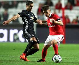 Grimaldo in Champions League action for Benfica. EFE