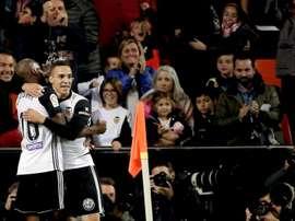 O Valencia venceu por 3-1 na receção ao Alavés. EFE