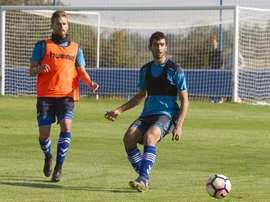 Christian Santos (i) marcó ante el Athletic. EFE/Archivo