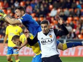 Pereira in action for Valencia. EFE