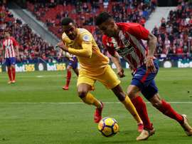 Atlético e Girona empataram em 1-1. EFE