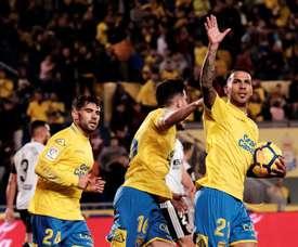 O Las Palmas bateu o Valencia por 2-1. EFE