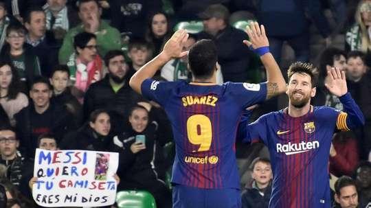 Messi e Suárez podem chegar aos 750 golos. EFE