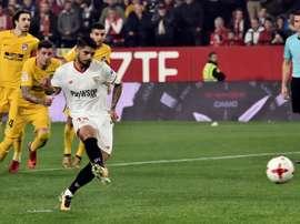 O Sevilla está nas semifinais da Copa do Rei. EFE