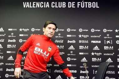 Marcelino espera un partido complicado contra el Atlético. EFE