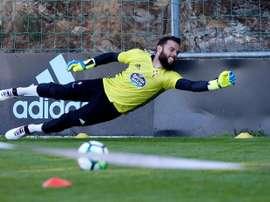 Sergio Álvarez tiene un sueño en el Celta. EFE/Archivo