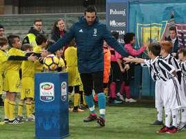 Capitão da Juventus no jogo contra o Chievo. EFE