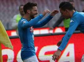 O Napoli recebeu e venceu o Bologna pela Serie A. AFP