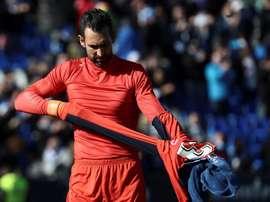 Diego Lopez est prêt pour la réception de Barcelone. EFE
