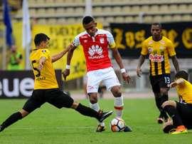 Santa Fe logró una victoria ajustada anta Táchira. EFE