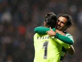 Celebração do segundo golo da partida. EFE