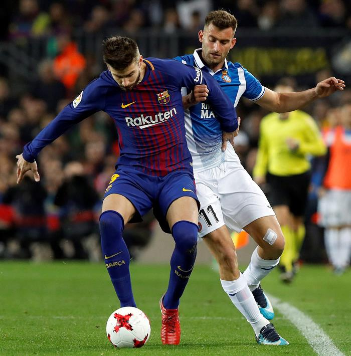 Piqué defendió su gesto contra la hinchada del Espanyol