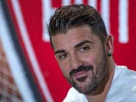 David Villa felicitó por su debut en la élite al Torque uruguayo. EFE/Archivo