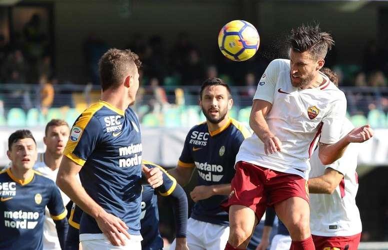 A Roma bateu o Hellas Verona por 0-1. AFP