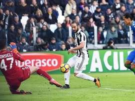 A Juve recebeu e venceu o Sassuolo por 7-0. AFP