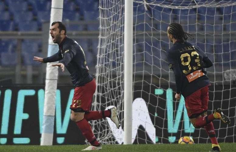 Puede descender a la Serie B... y clasificar a Europa con el club que preside. EFE
