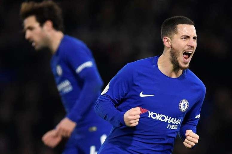 Hazard scored two superb goals. AFP