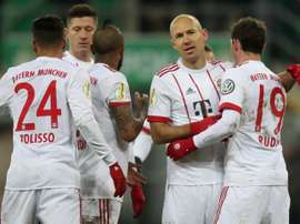 O Bayern se apurou para as semifinais da DFB Pokal. EFE