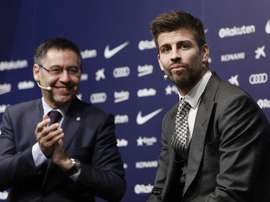 Pique criticised the Barca board after the victory over Getafe. EFE/Archivo