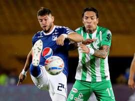 Ovelar marcó un doblete ante Nacional. EFE