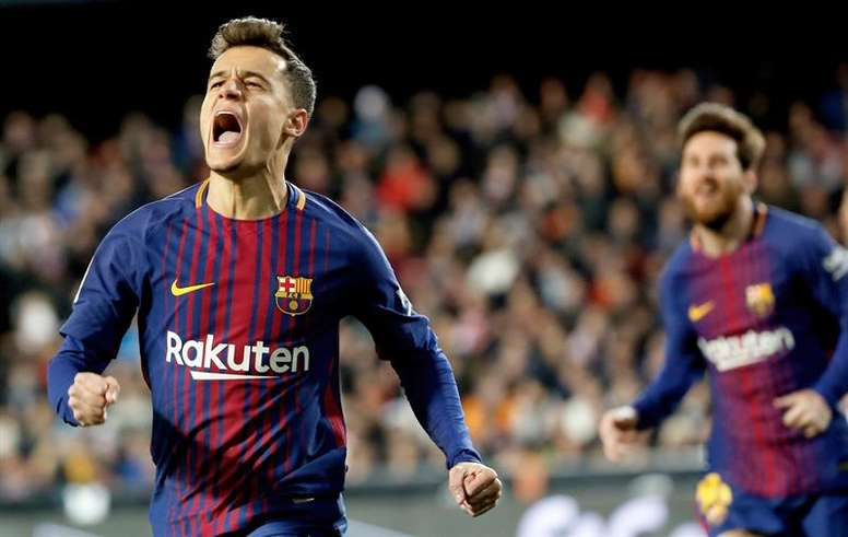 Coutinho delighted by Messi link-up. EFE