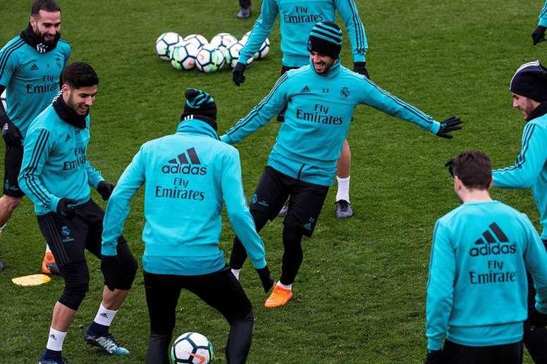 Le Real a besoin de se rassurer avant le match face au PSG. EFE