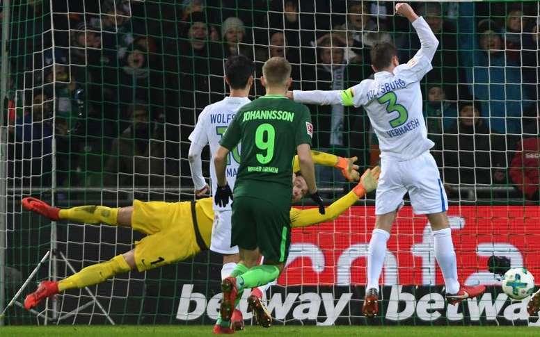 El Werder Bremen ganó al Wolfsburgo. EFE